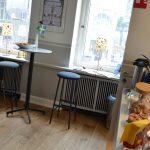 Café in der schwedischen Kirche in skandinavischen Ambiente