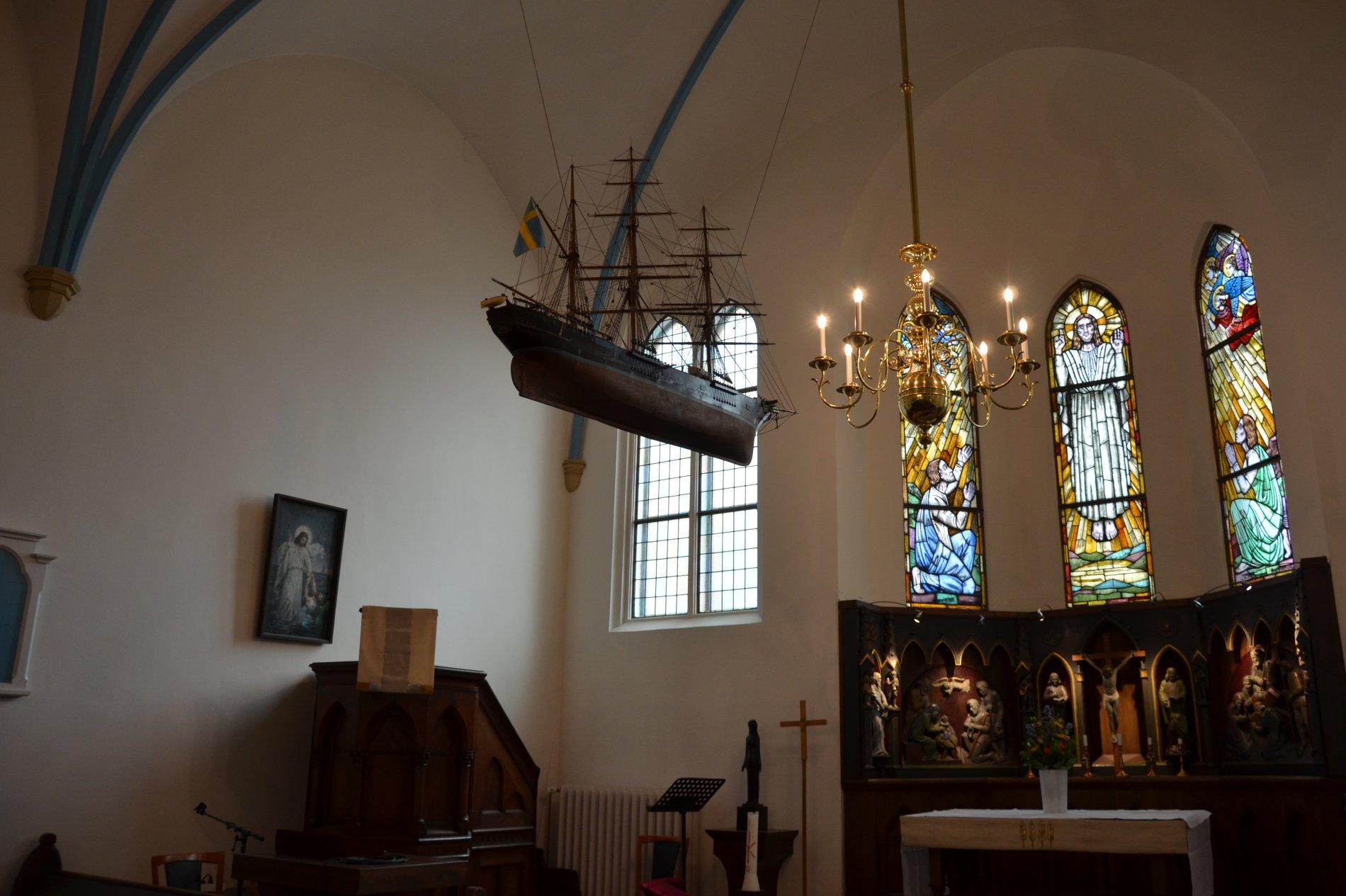 Kirchensaal der schwedischen Kirche