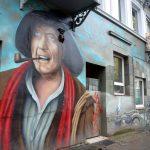 Graffitti - Hans Albers schaut in die Ferne