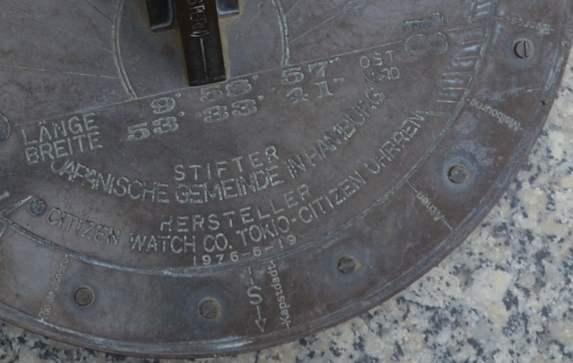 Inschrift auf der Sonnenuhr